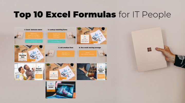 List of top 10 Excel formulas for people in IT