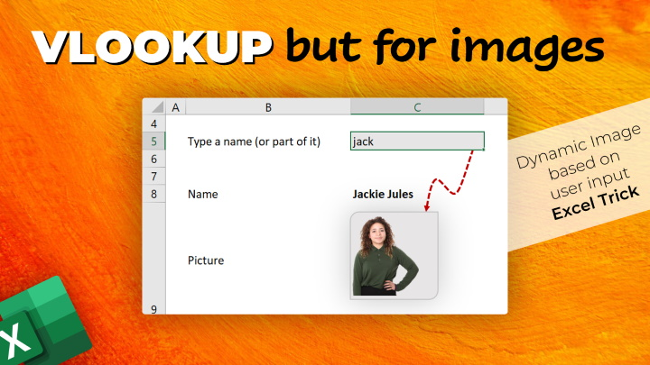 Image Lookup – How-to show dynamic picture in a cell [Excel Trick]