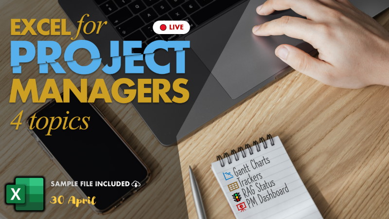 excel for project managers - free class