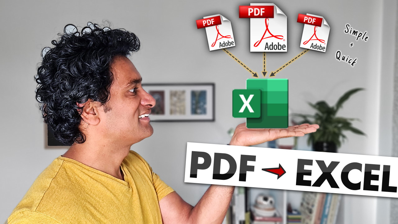 get data from pdf to excel