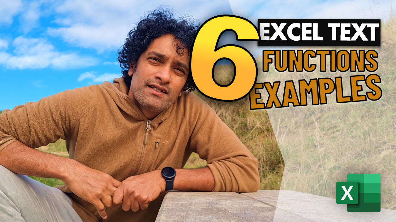 6 important Excel text functions