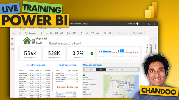 sample learning from Power BI live training